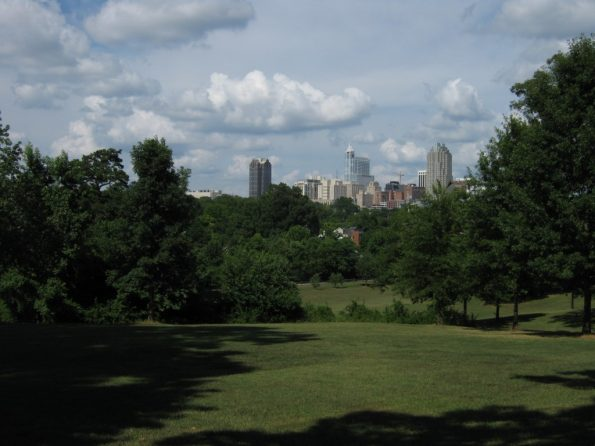 View of downtown skyline from Dix campus