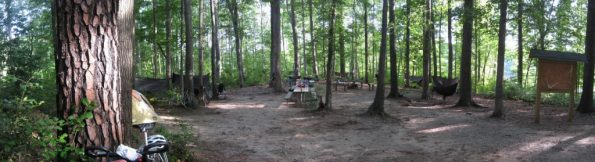 Two Oaks group campsite