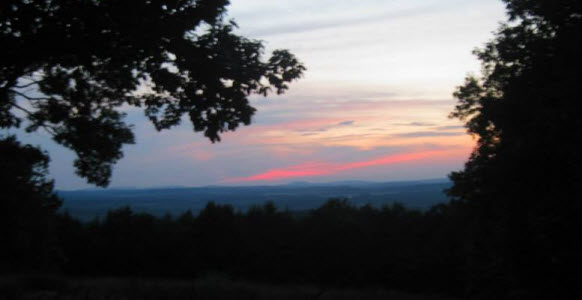 Sunset view from the new trailhead.