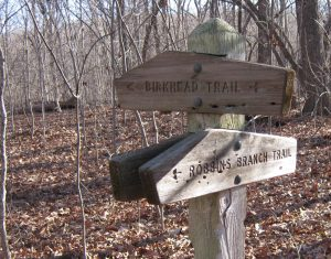 Birkhead Mountains trail sign