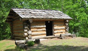 1740's-style log cabin