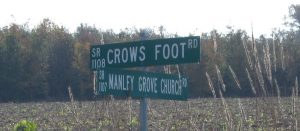 Crow's Foot Road