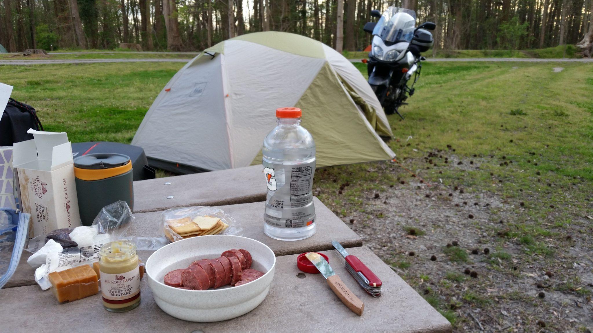 Camp dinner