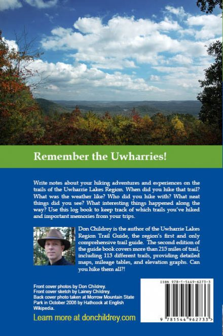 My Uwharrie Trails back cover