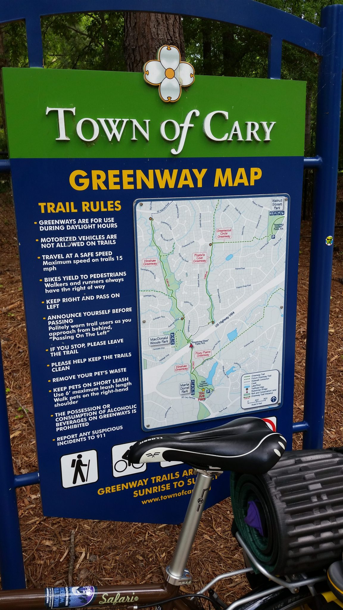 greenway map sign