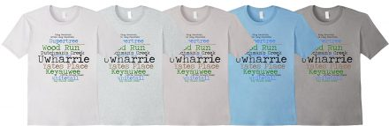 Uwharrie Trail Place Names shirt, light