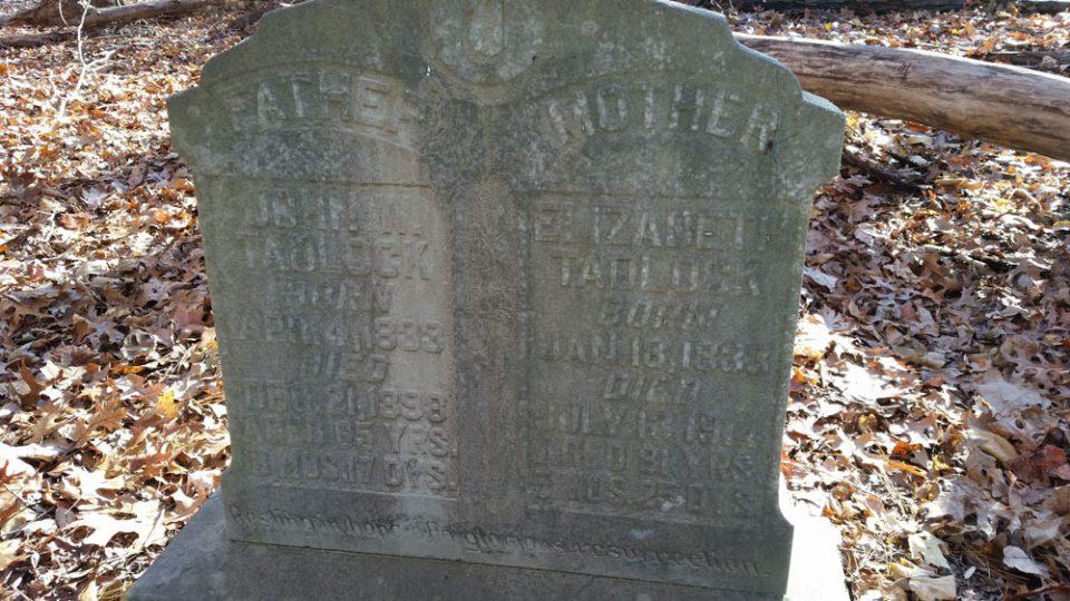 Lost Uwharrie - Tadlock headstone