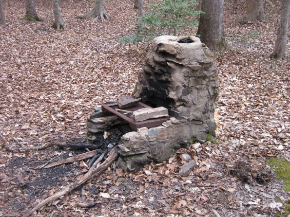 Camp 4 fireplace