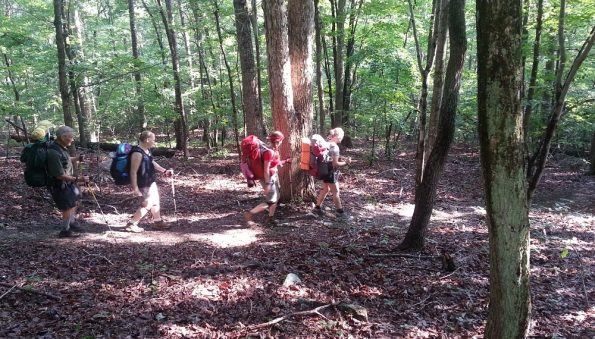 Hiking on the Uwharrie Trail