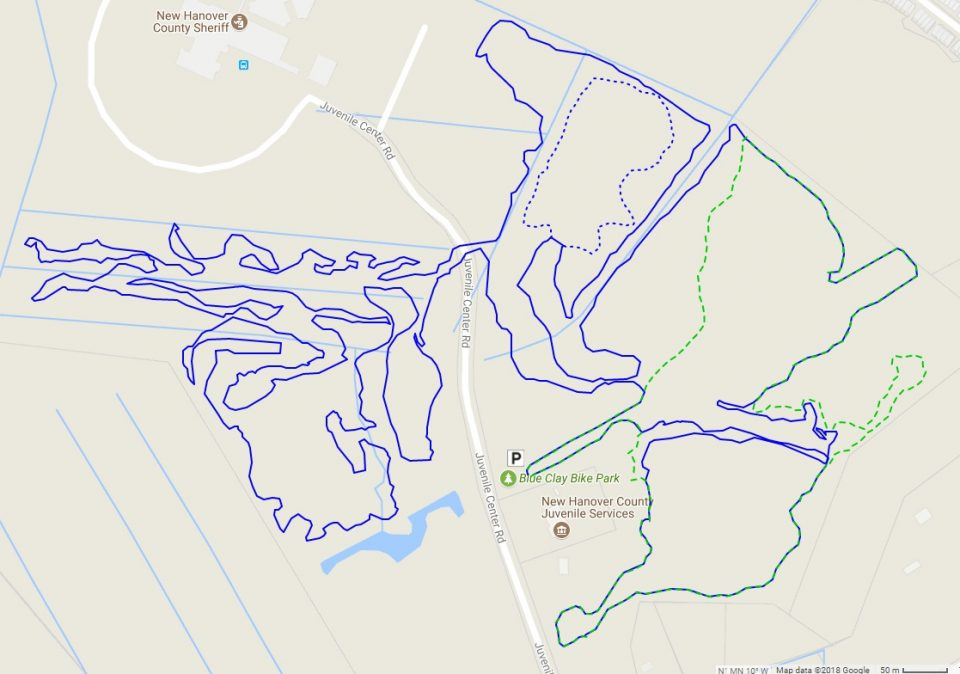 Don's GPS tracks from riding Blue Clay Bike Park.