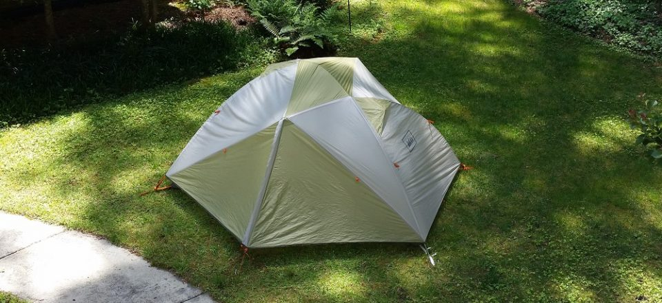 tent in yard