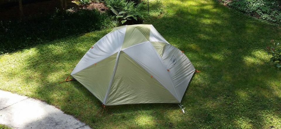 tent in yard