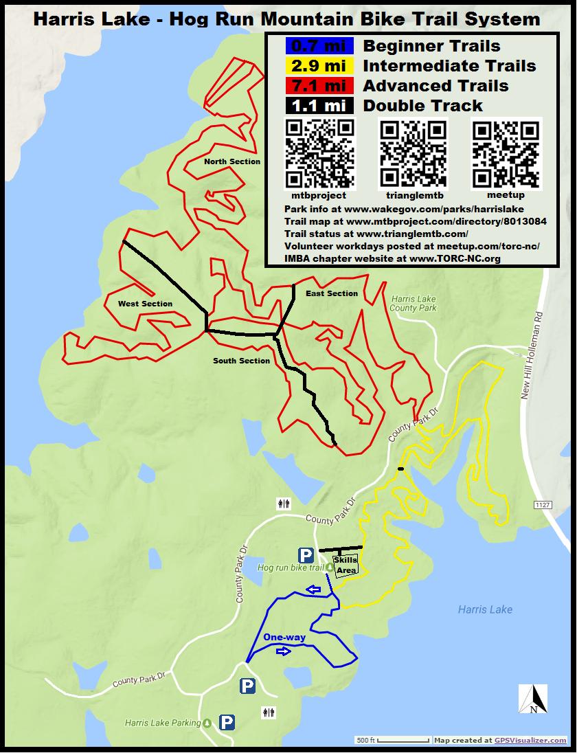 Harris Lake County Park bike trails