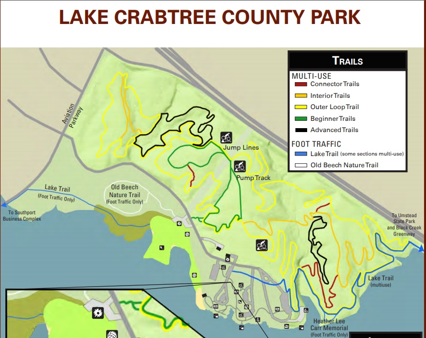 Lake Crabtree County Park multi-use trails