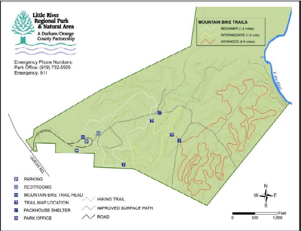 Little River Regional Park bike trail map