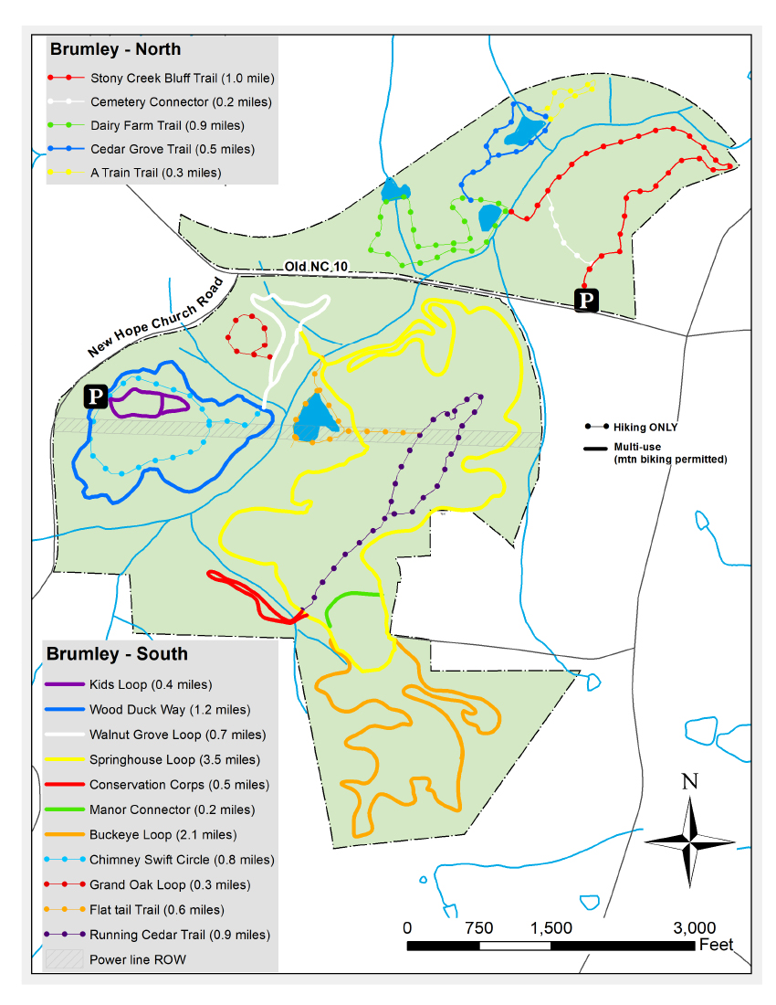 Brumley South Trail map